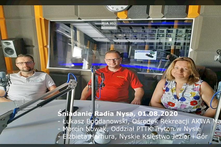 01.08.2020 - Goścmi Śniadania Radia Nysa byli Elżbieta Harhura, Łukasz Bogdanowski i Marcin Nowak