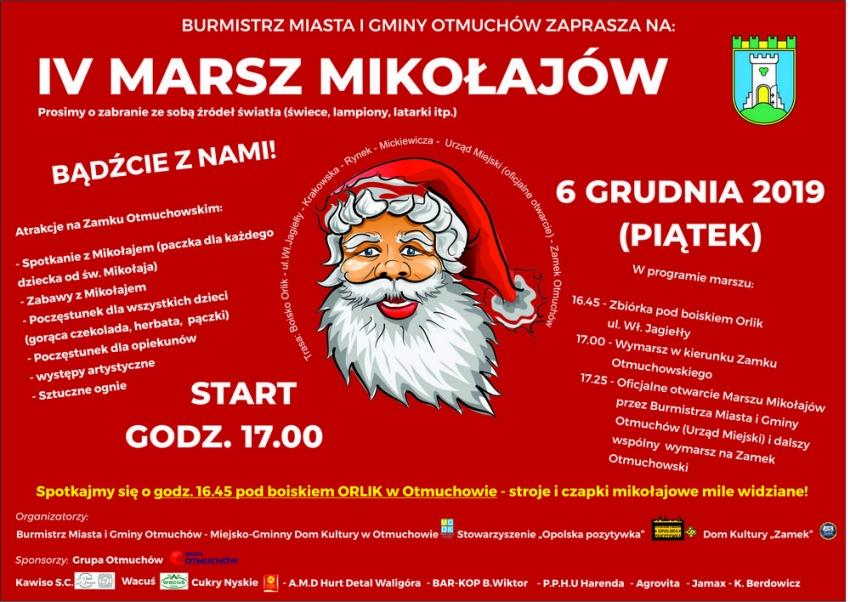 Otmuchów zaprasza na IV Marsz Mikołajów!
