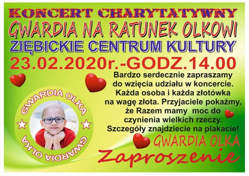 Koncert charytatywny na ratunek Olkowi