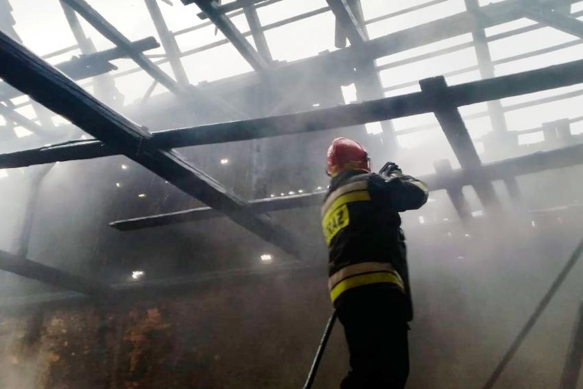 Pożar budynku pod Nysą