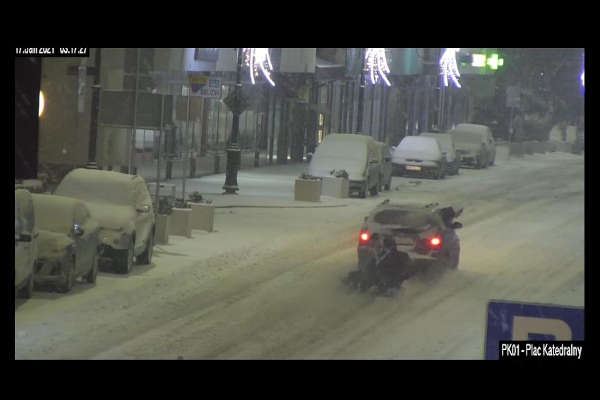 Świętowali pierwsze intensywne opady śniegu!