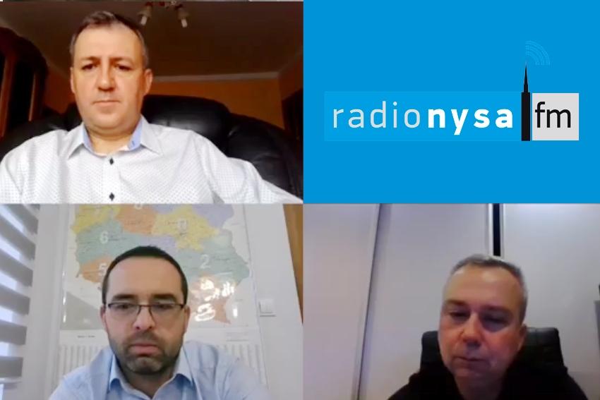 17.10.2020 - Gośćmi Śniadania w Radiu Nysa byli Artur Kamiński, Mariusz Kozaczek, Piotr Woźniak