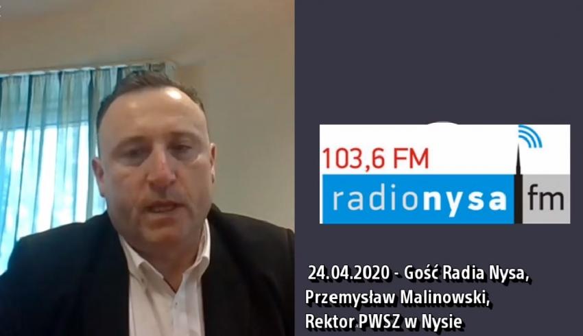 24.04.2020 - Gościem Dnia Radia Nysa był Przemysław Malinowski