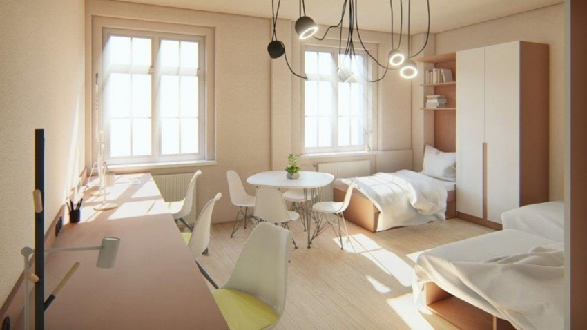 Trwa adaptacja pomieszczeń nowego internatu dla 'Plastyka'