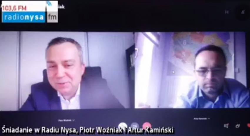 02.05.2020 - Śniadanie Radia Nysa, gośćmi byli Piotr Woźniak i Artur Kamiński